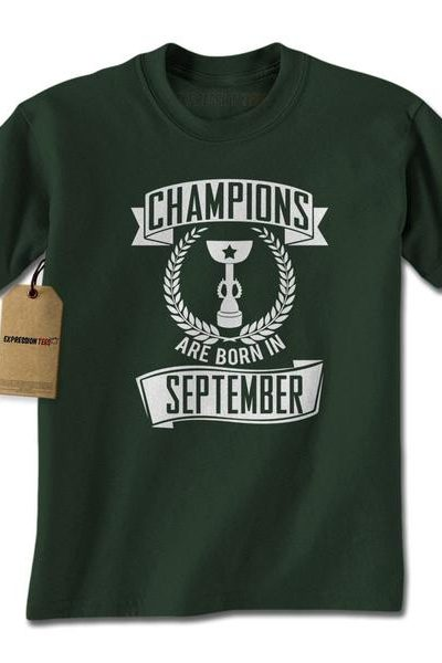 Champions Are Born In September Mens T-shirt