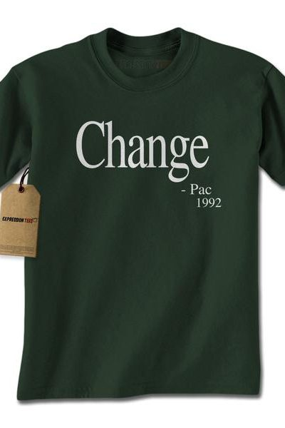 Change – Pac Quote 1992 Mens T-shirt