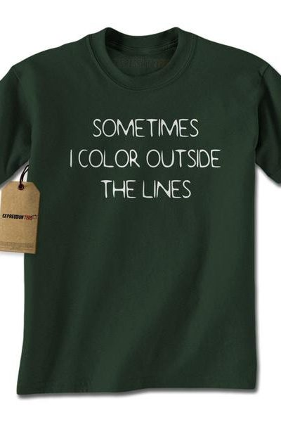 Color Outside The Lines Mens T-shirt