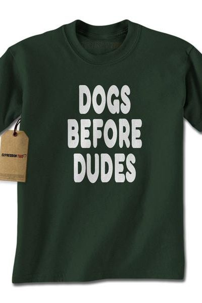 Dogs Before Dudes Mens T-shirt