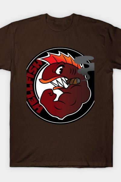 Flying Hell fish T-Shirt