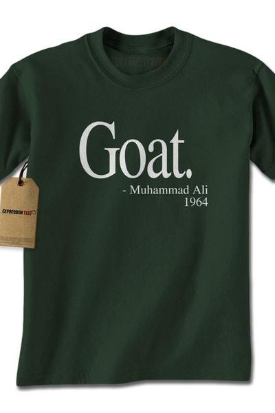 Goat Muhammad Ali Quote Mens T-shirt