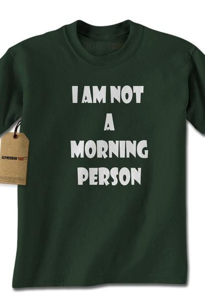 I Am Not A Morning Person Mens T-shirt