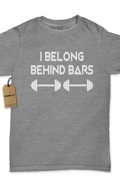 I Belong Behind Bars Womens T-shirt