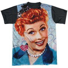 I Love Lucy Smile Black Back Sublimation T-Shirt
