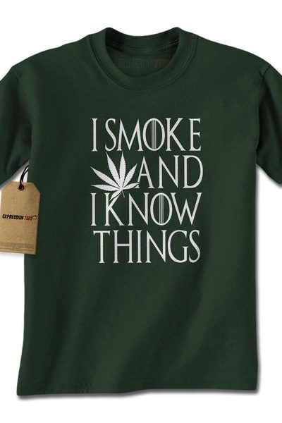 I Smoke And I Know Things Mens T-shirt
