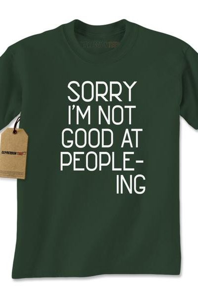 I'm Not Good At Peopleing Mens T-shirt
