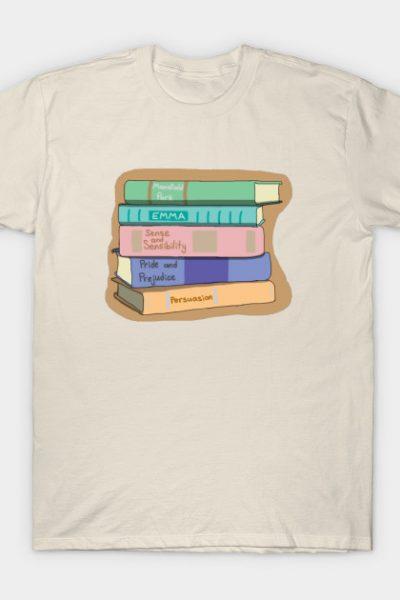 Jane Austen Book Stack T-Shirt