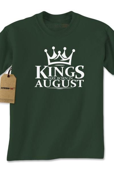 Kings Are Born In August Mens T-shirt