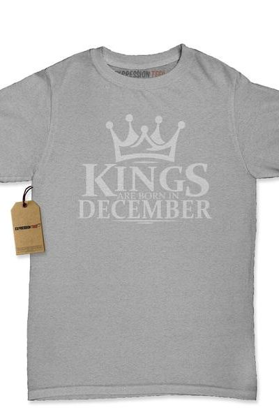 Kings Are Born In December Womens T-shirt