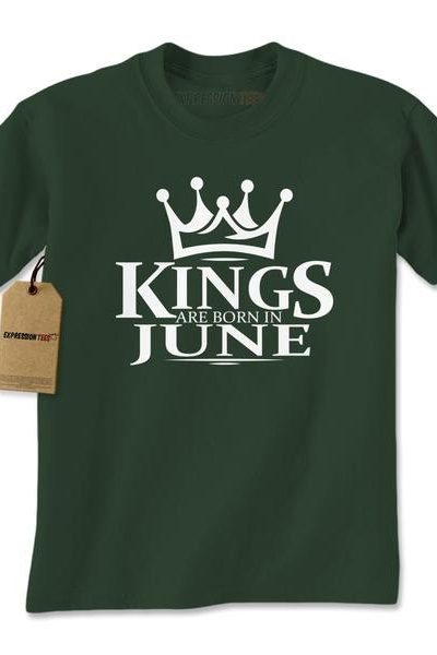 Kings Are Born In June Mens T-shirt