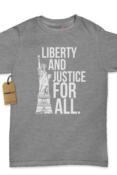 Liberty And Justice For All Womens T-shirt