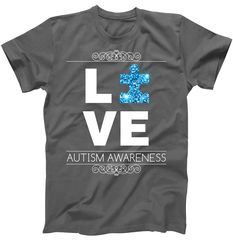 Love Puzzle Piece Autism Awareness Design T-Shirt