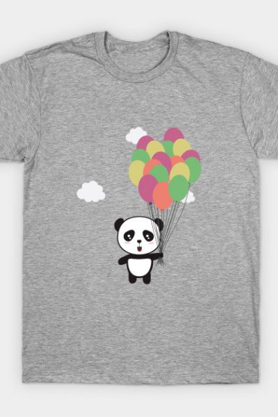 Panda with colorful balloons T-Shirt