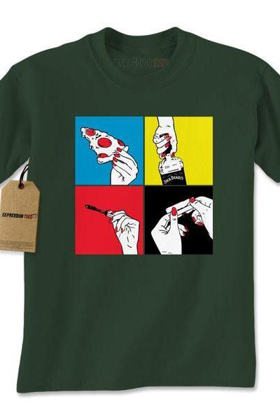 Pizza Jack Mascara Weed Mens T-shirt