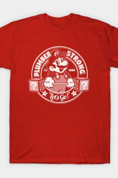 plumber strong mario gym tee T-Shirt