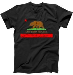 Retro California Republic Flag T-Shirt