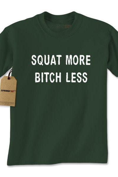 Squat More Bitch Less Workout Mens T-shirt