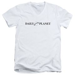 Superman Daily Planet Logo V-Neck T-Shirt