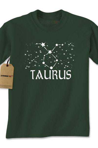 Taurus Zodiac Star Chart Mens T-shirt