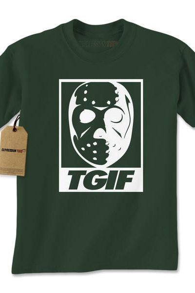 TGIF Jason Hockey Mask Mens T-shirt