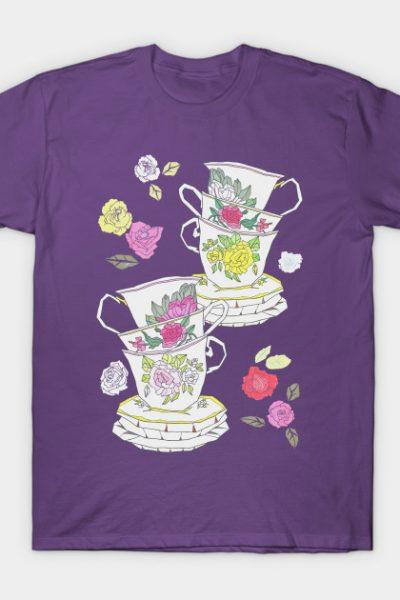 Vintage Tea Cups T-Shirt