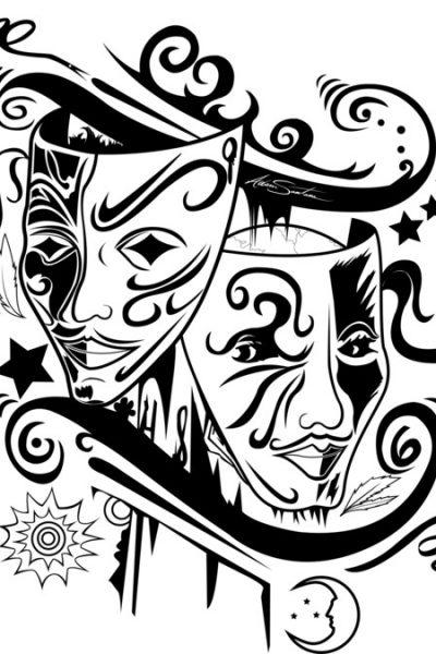 Zodiac Gemini Black & White