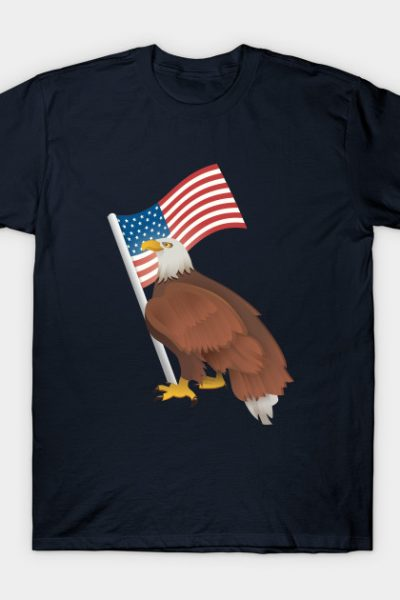 Bald Eagle with USA Flag T-Shirt