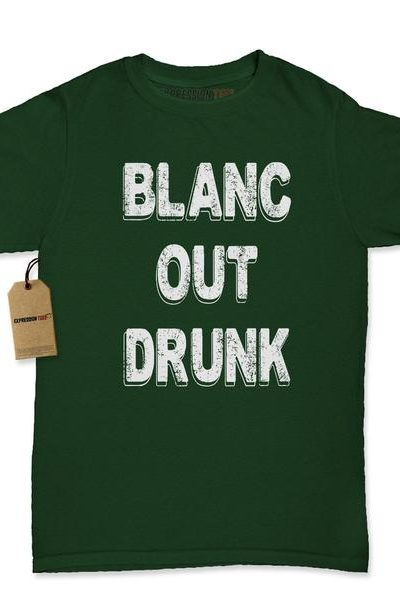 Blanc Out Drunk Sauvignon Womens T-shirt