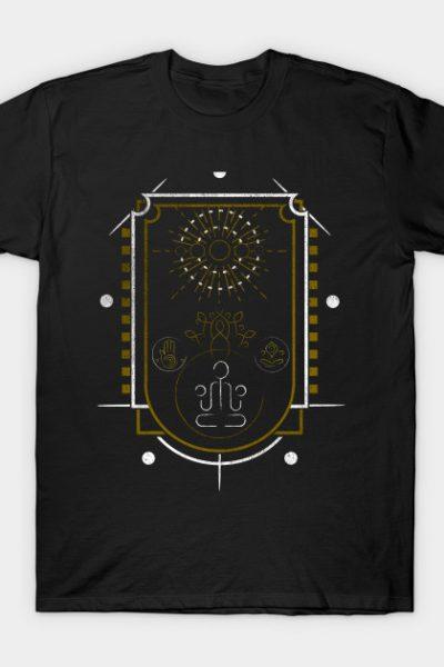 Buddha Flatlin Design T-Shirt
