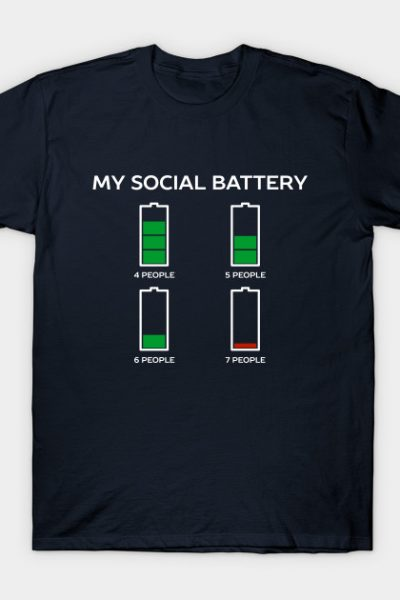Funny Social Battery Introvert T-Shirt T-Shirt