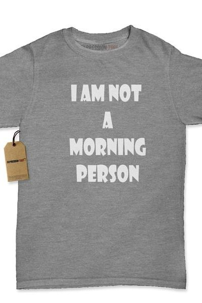 I Am Not A Morning Person Womens T-shirt
