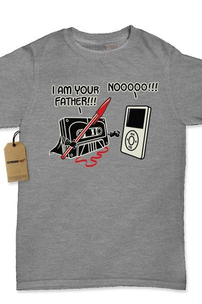 I am Your Father Funny Cassette Tape Womens T-shirt