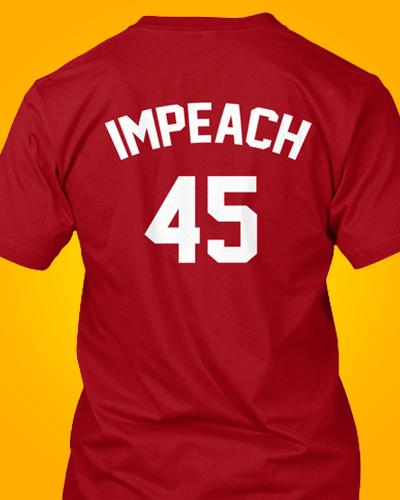 Impeach Donald Trump 45 Jersey