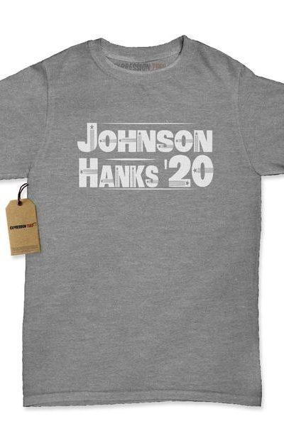 Johnson Hanks For President Womens T-shirt