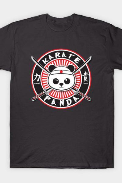 Karate Panda Circle logo T-Shirt