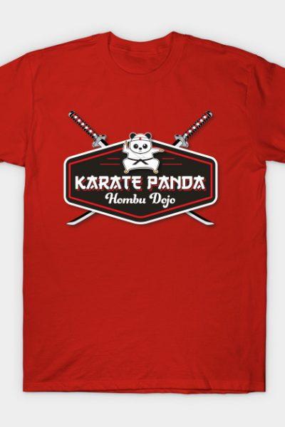 Karate Panda Hombu Dojo Patch T-Shirt