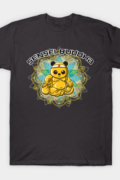 Karate Panda Sensei Buddha T-Shirt