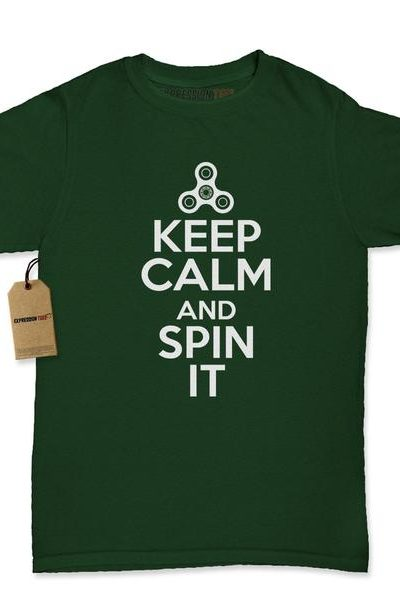 Keep Calm And Spin It Womens T-shirt