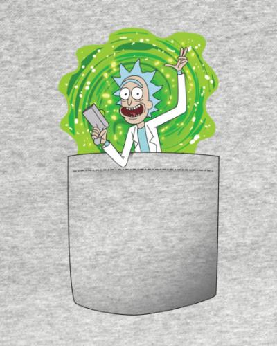 Pocket Rick and Morty Portal Gun T-Shirt