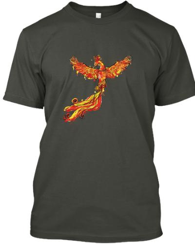 Rising Phoenix Bird T-shirt