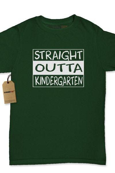 Straight Outta Kindergarten Womens T-shirt