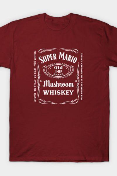 Super Mario Bros Jack Daniels Label T-Shirt