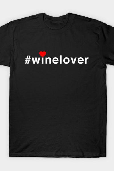 #winelover heart T-Shirt