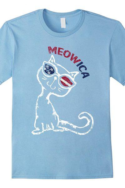 Cute Cat Tee – Meowica T-Shirt