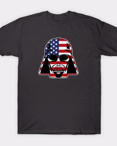 Darth Vader US Flag Star Wars USA T-Shirt