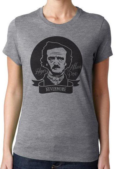 Edgar Allan Poe, Nevermore T-Shirt, Poetry Crewneck Unisex T-Shirt
