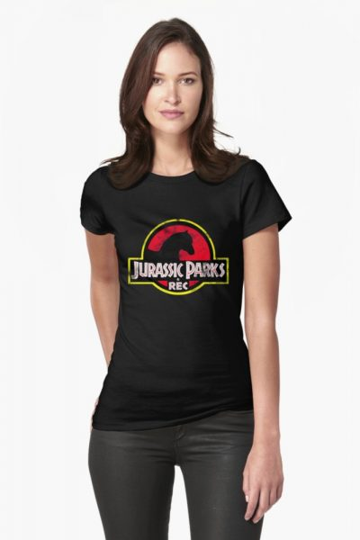 Jurassic Parks and Rec Distressed