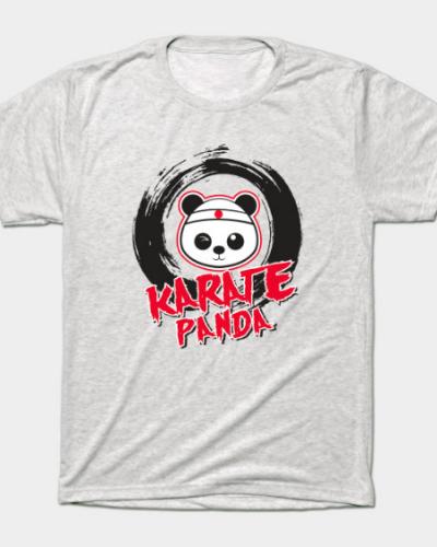 Karate Panda Brush Circle T-Shirt