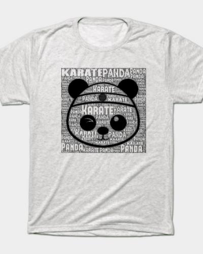 Karate Panda with type T-Shirt